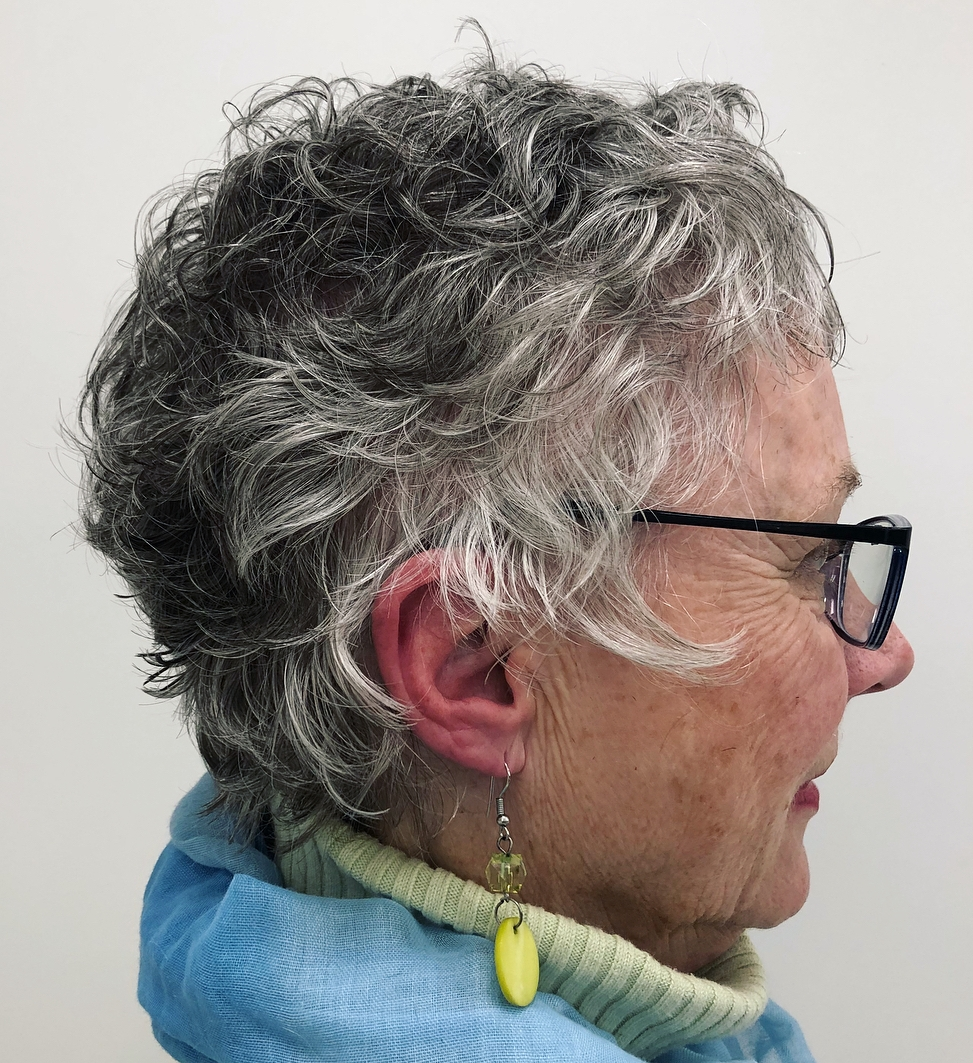 Cropped Pixie for Salt and Pepper Hair