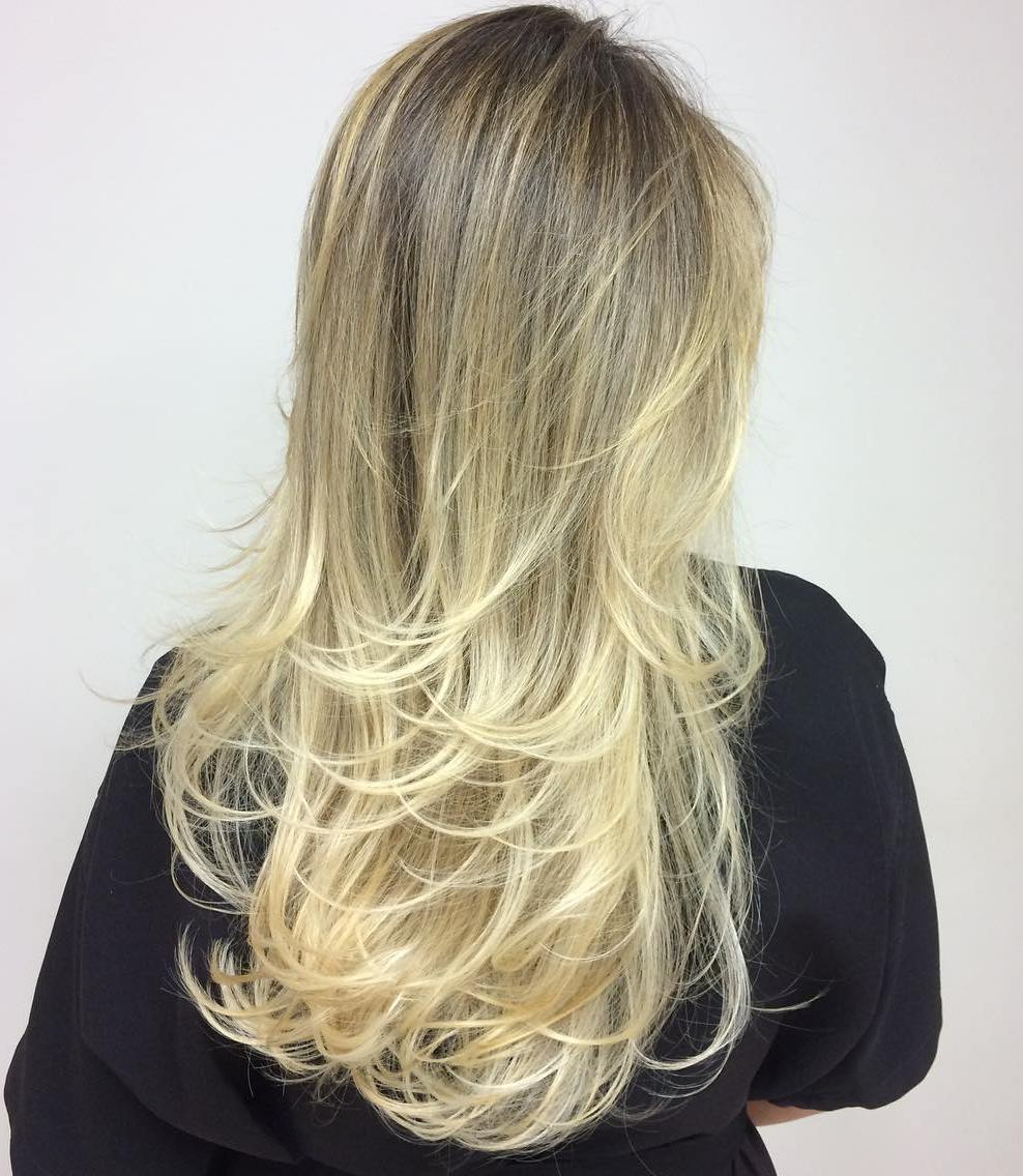 Soft Layered Hairstyle for Long Straight Hair