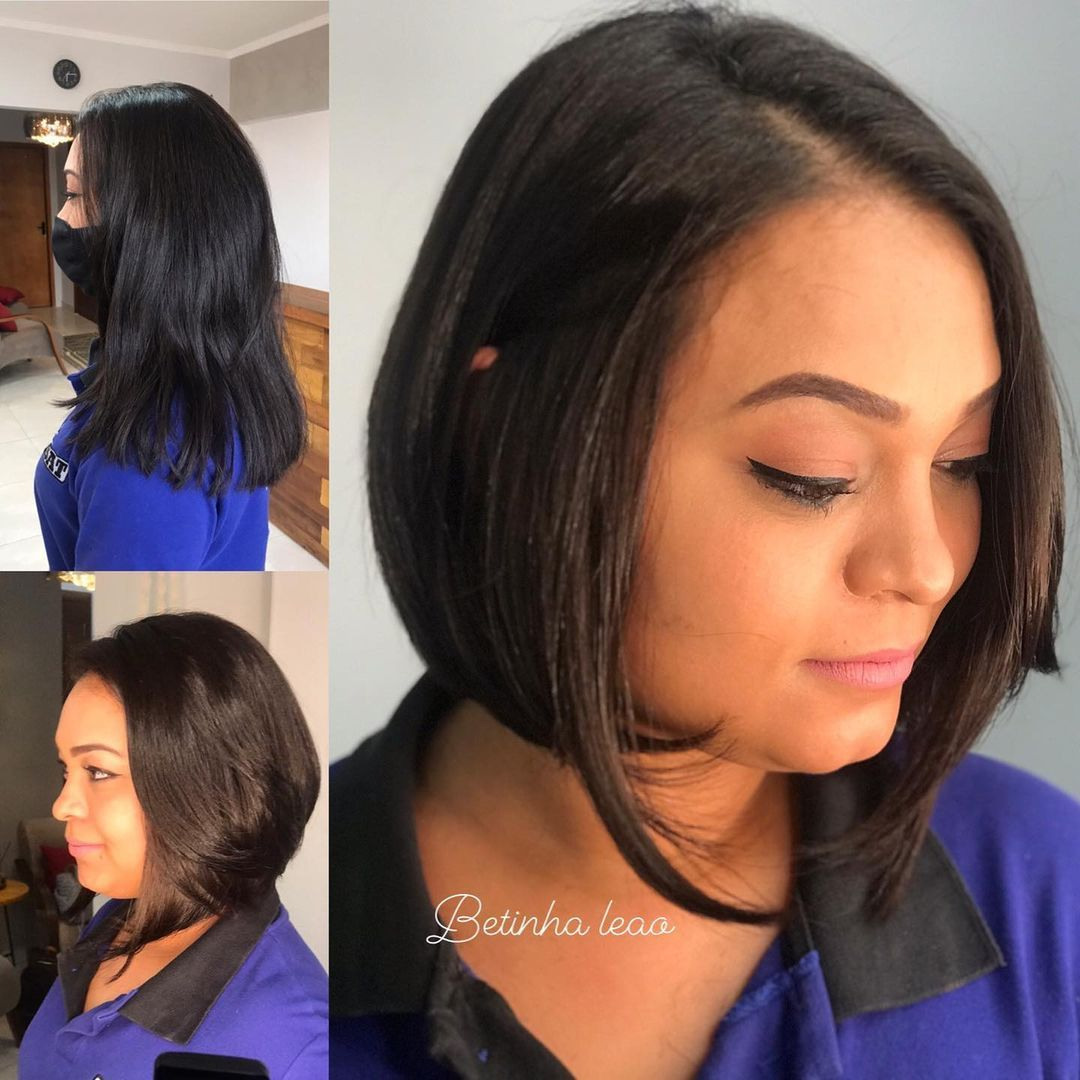 Short Haircut for a Round Face