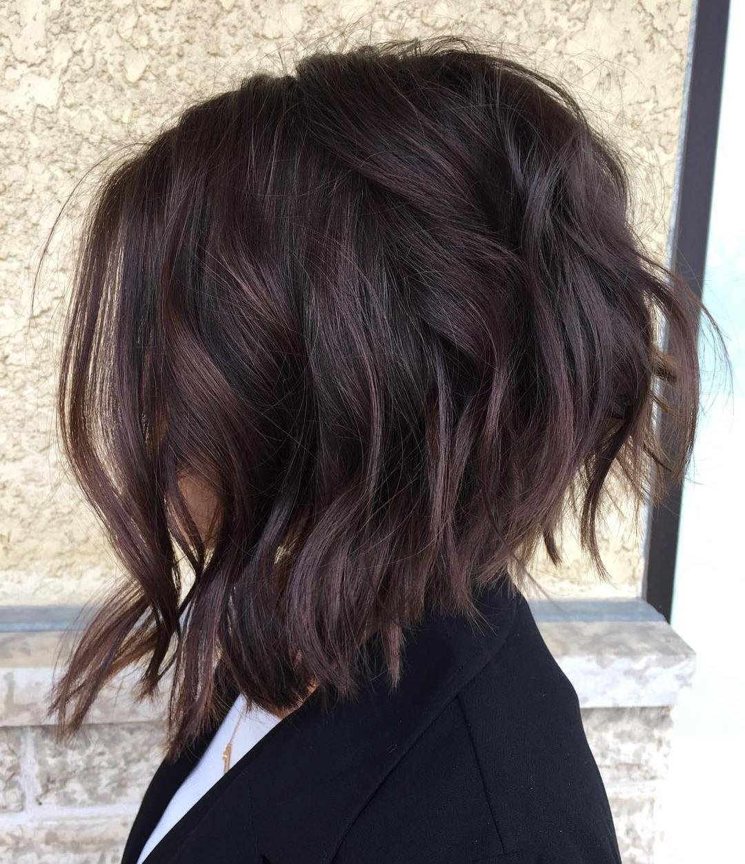 Wavy Dark Chocolate Bob
