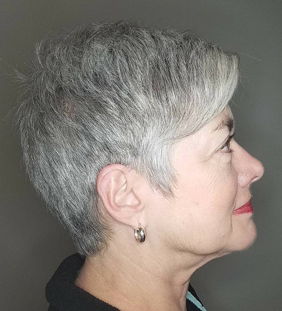 Salt-and-Pepper Razored Cut