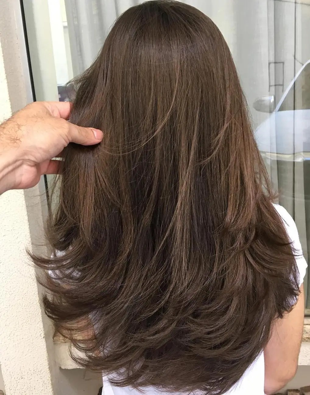 Feathered Haircut for Long hair