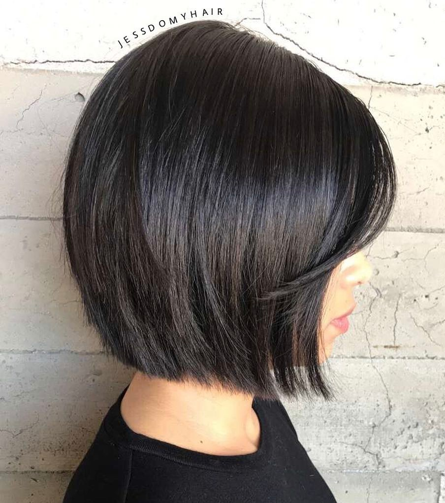 Blunt Dark Brown Bob