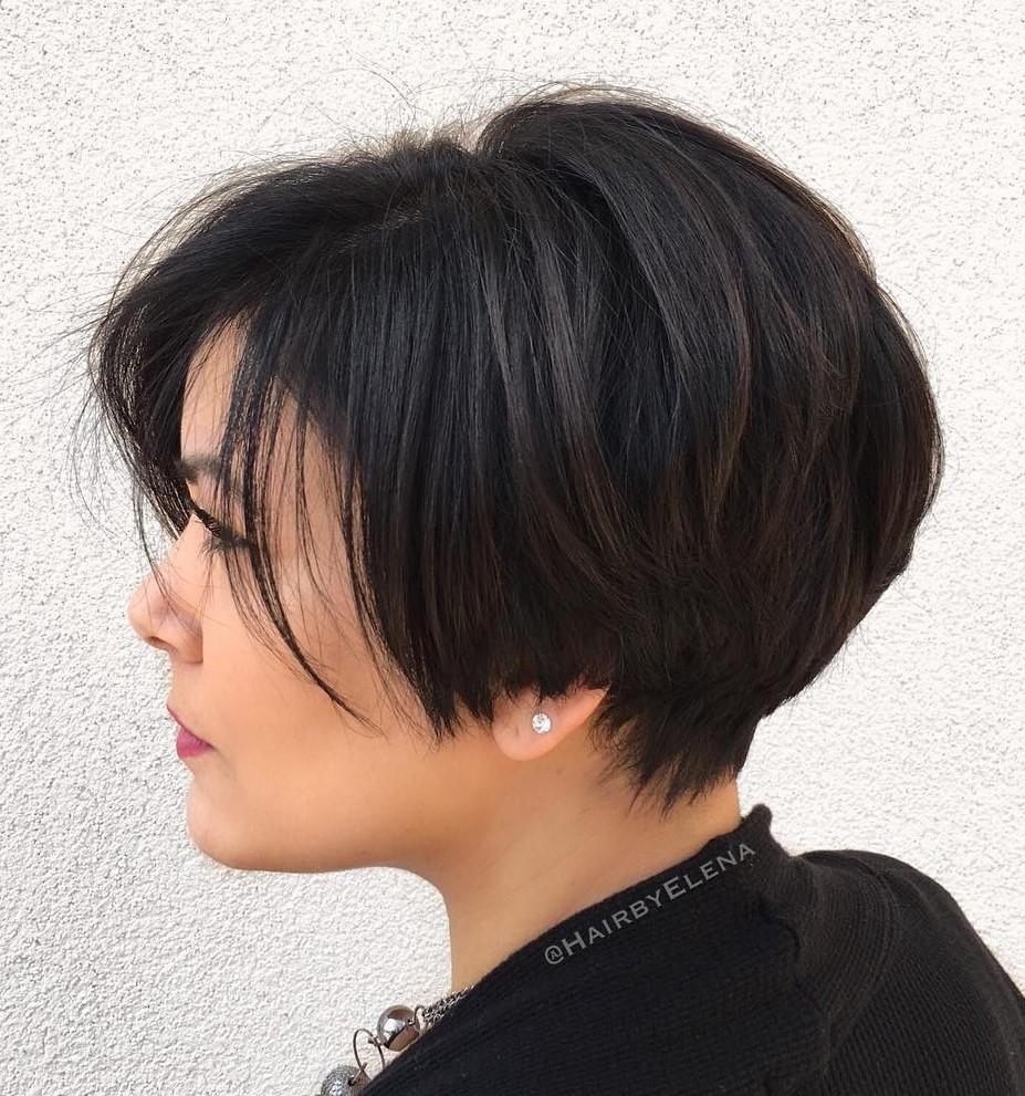 Glamorous Long Pixie Cut