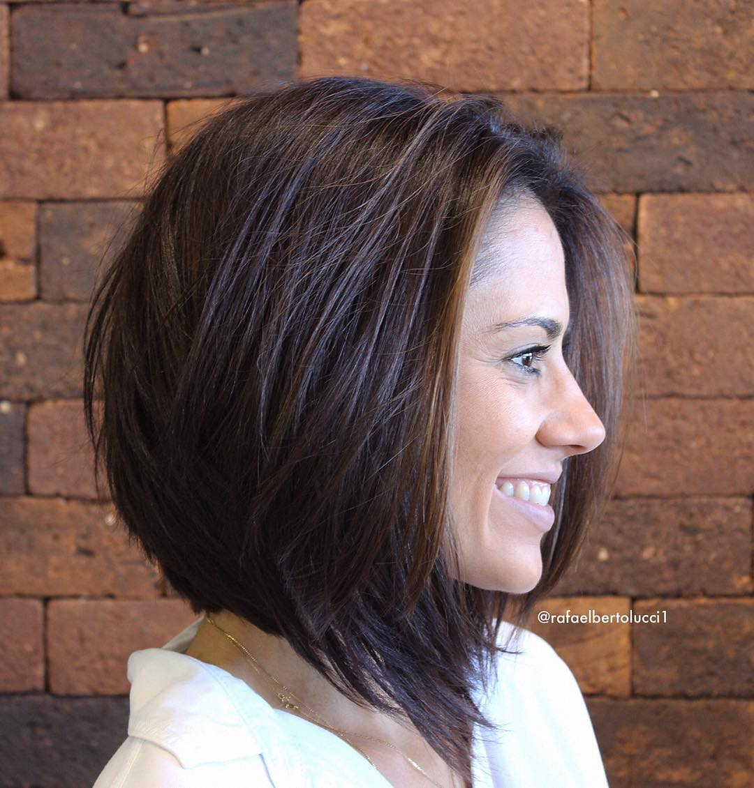 Angled Dark Chocolate Lob