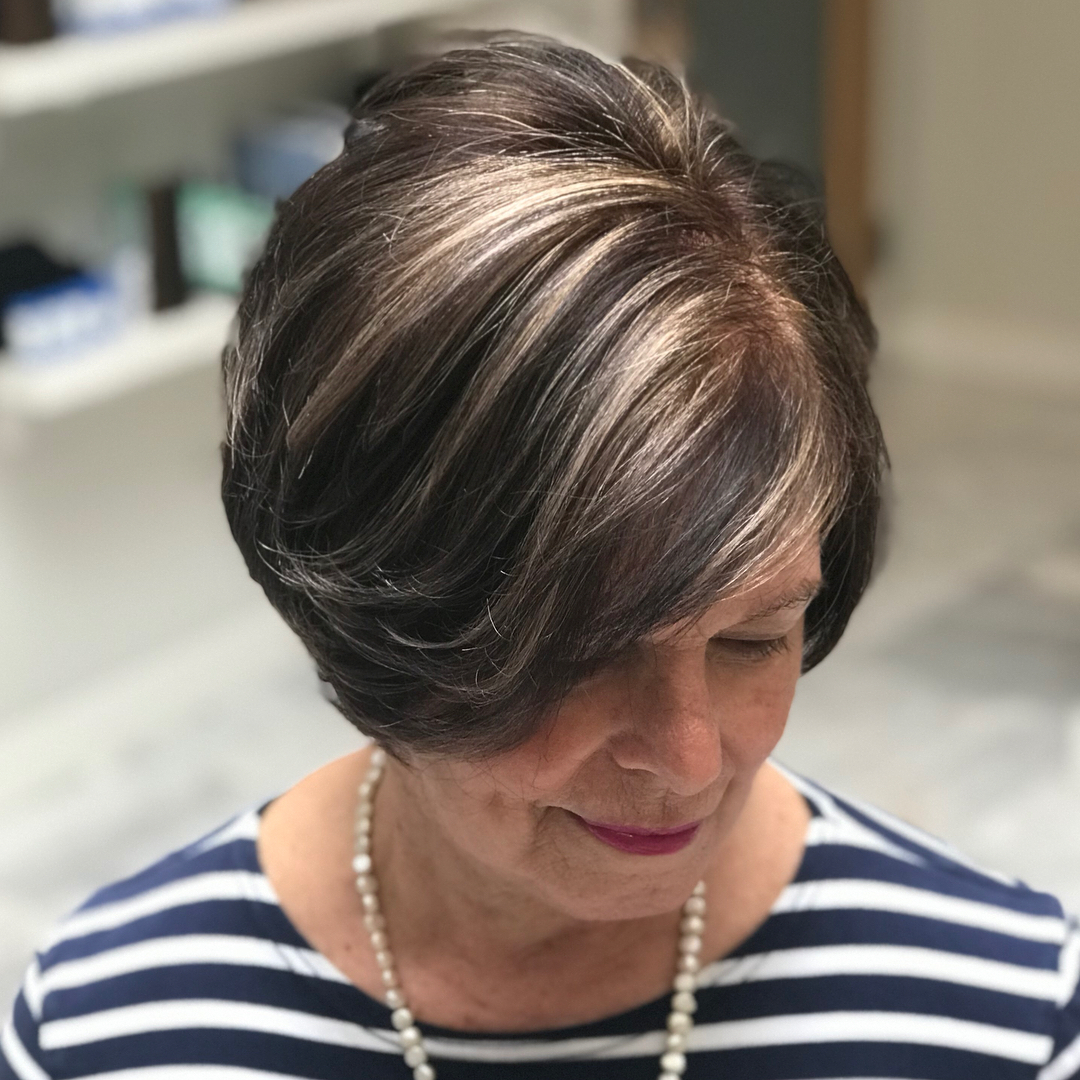 Shorter Layered Hairstyle for Thick Hair