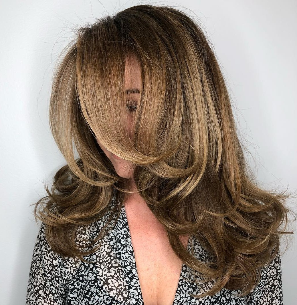 Caramel and Golden Balayage Hair