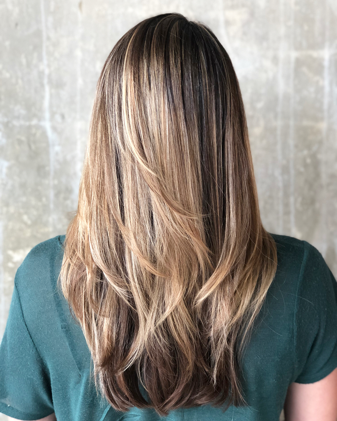 Long Haircut with Graduated Layers