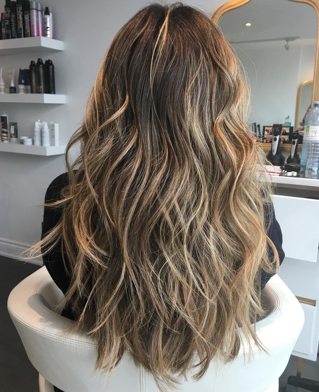 Low-Maintenance Beach Waves Long Hair