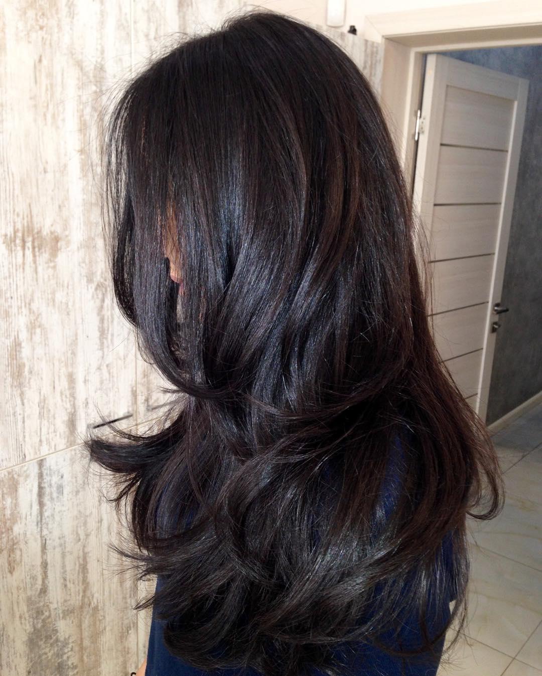 Long Dark Chocolate Brown Hair