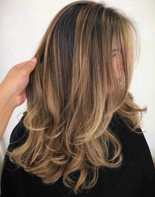 Long Bronde Balayage Hairstyle