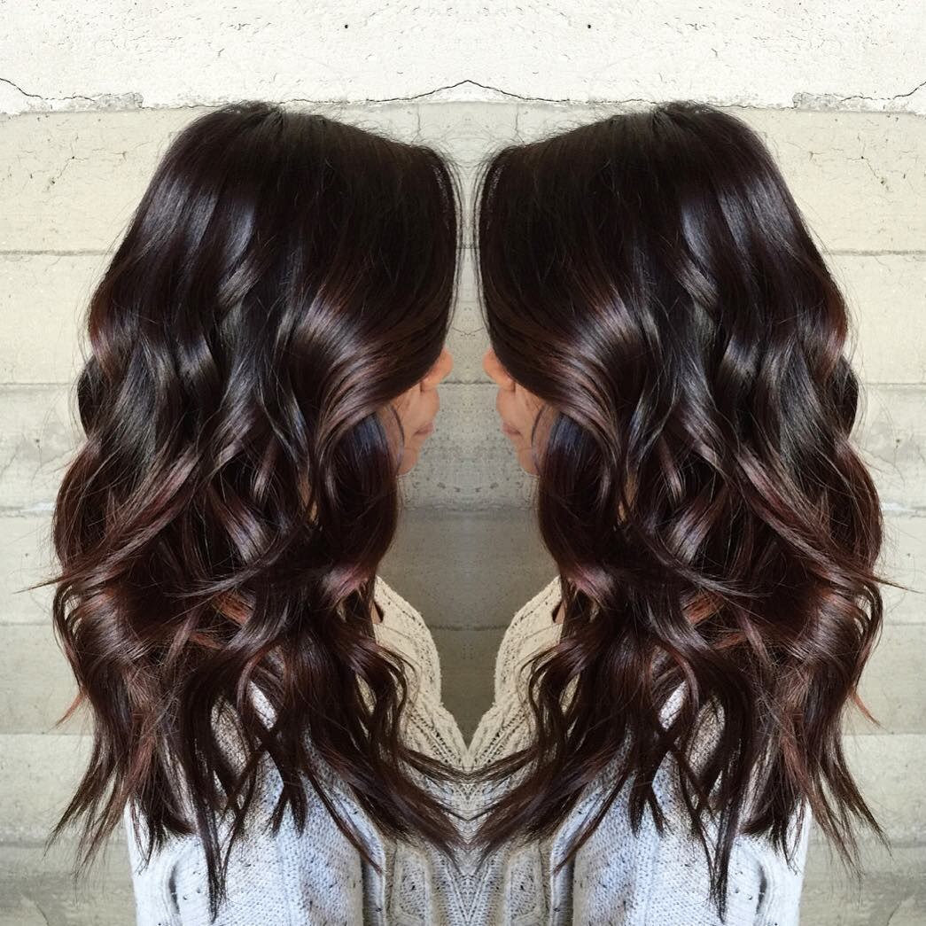 Long Bouncy Glossy Dark Chocolate Waves