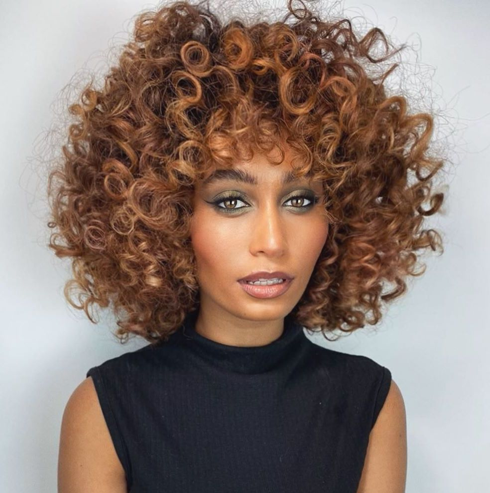 Medium Length Curly Thick Haircut