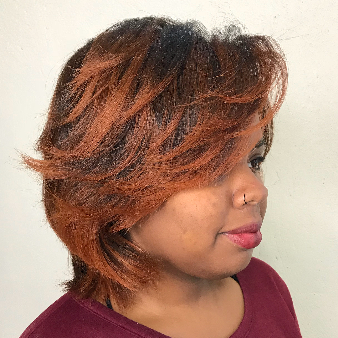 Short Shag Haircut with Feathered Layers