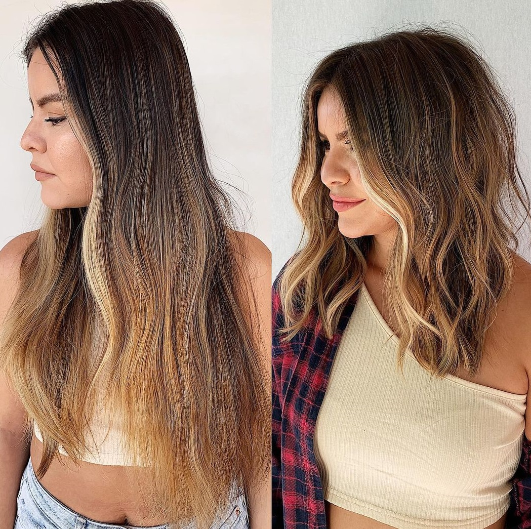 Medium Sun-Kissed Hairstyle for Thick Hair