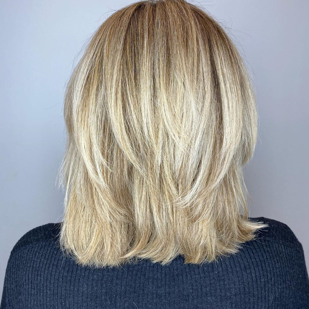 Midi Cut with Layers for Thick Hair
