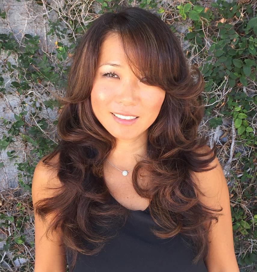 50 Ways to Wear Long Layered Hair with Bangs , Hair Adviser
