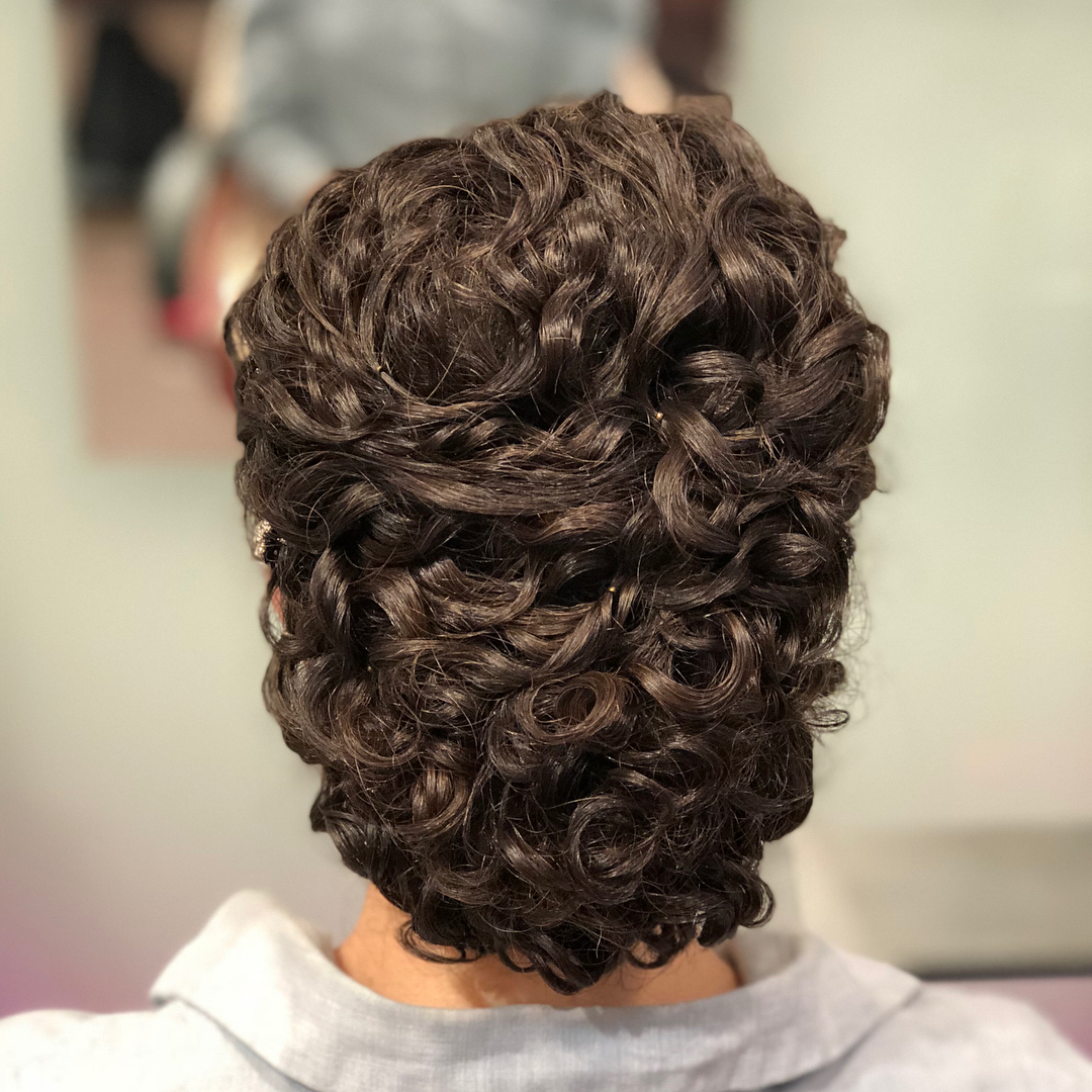 Loose Fancy Updo for Curly Hair