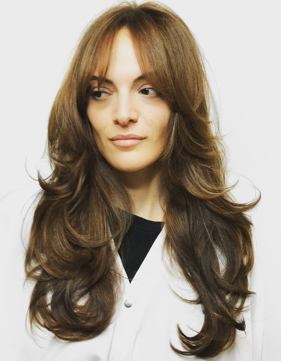 Long Voluminous Hairstyle with Layers