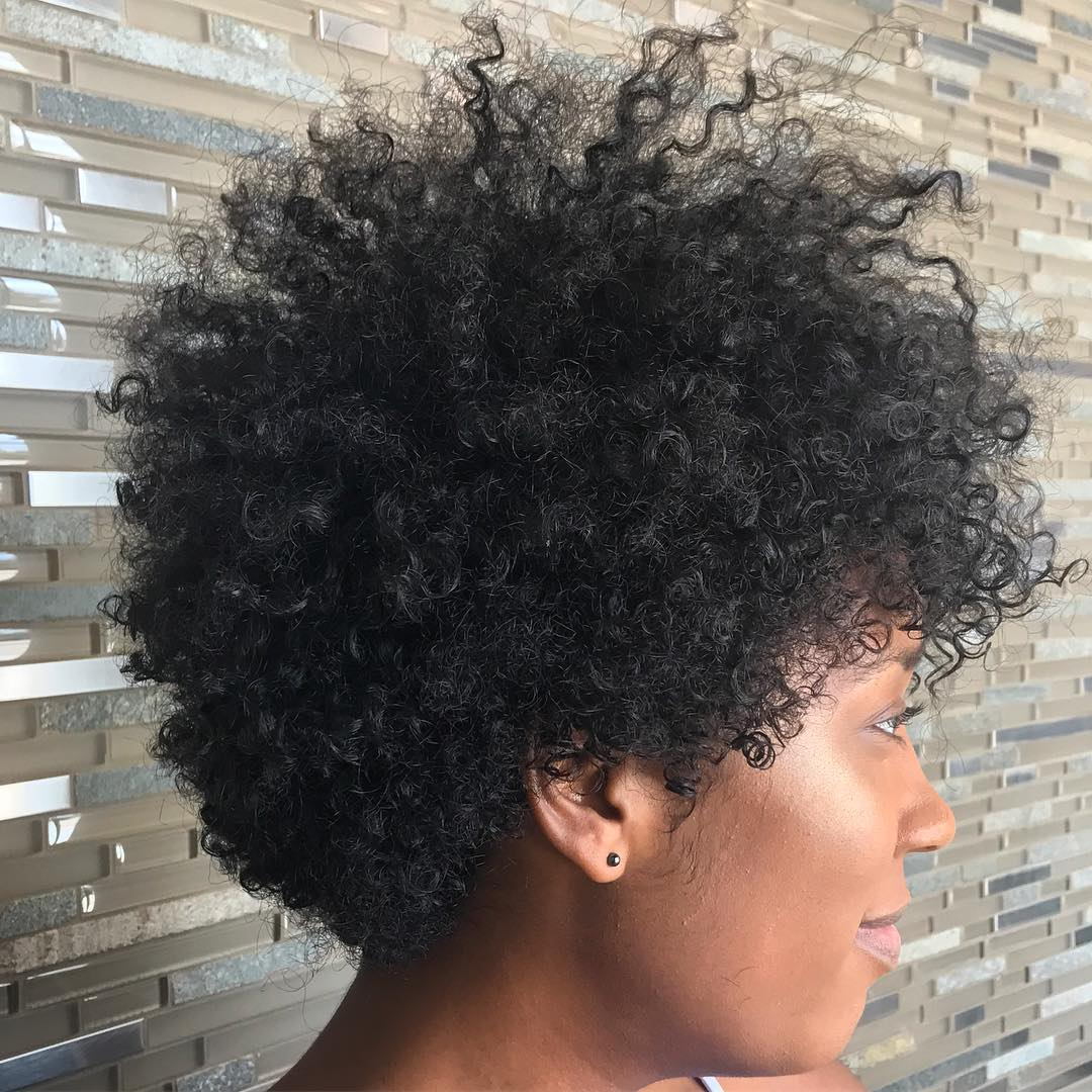 Black Tapered Curly Fro