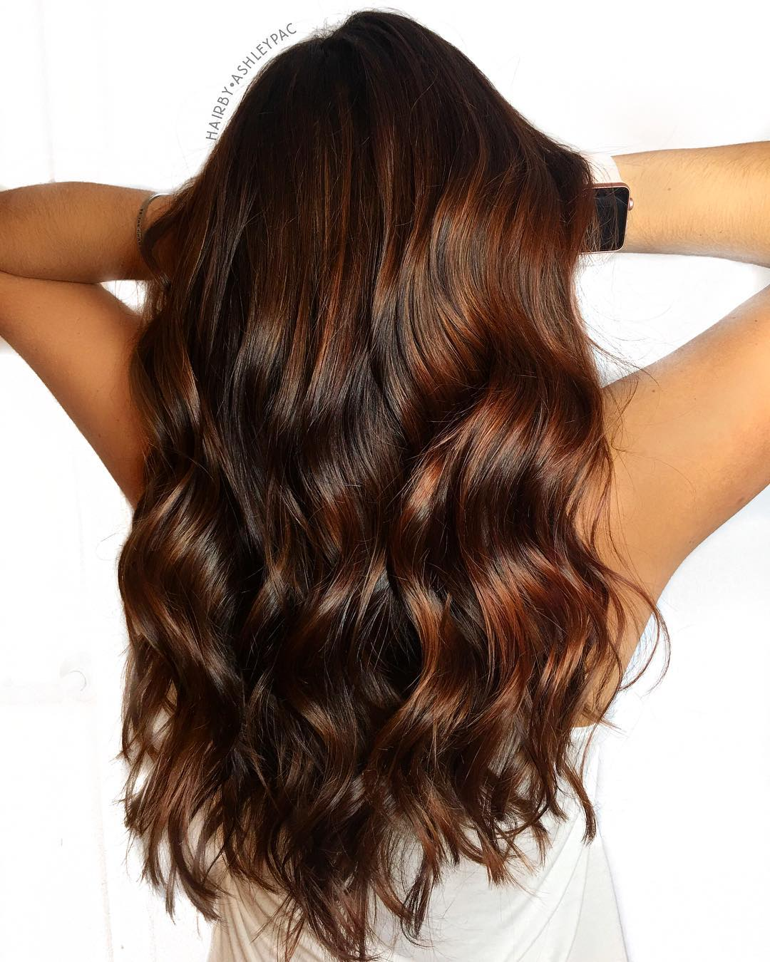 Dark Brown with Red Highlights
