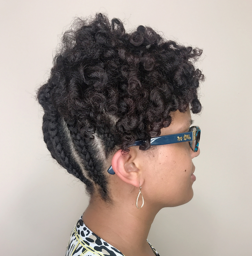 Lovely Curly Updo with Braided Back