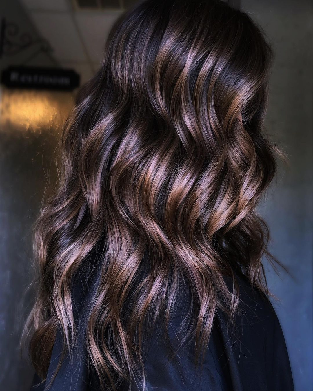 Brunette Hair with Highlights and Lowlights