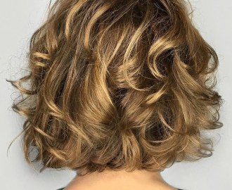 Low Maintenance Bob with Wavy Curls
