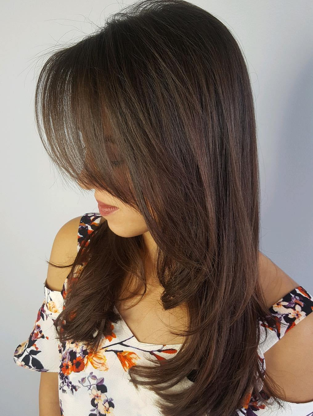 Long Straight Blowout Hairstyle