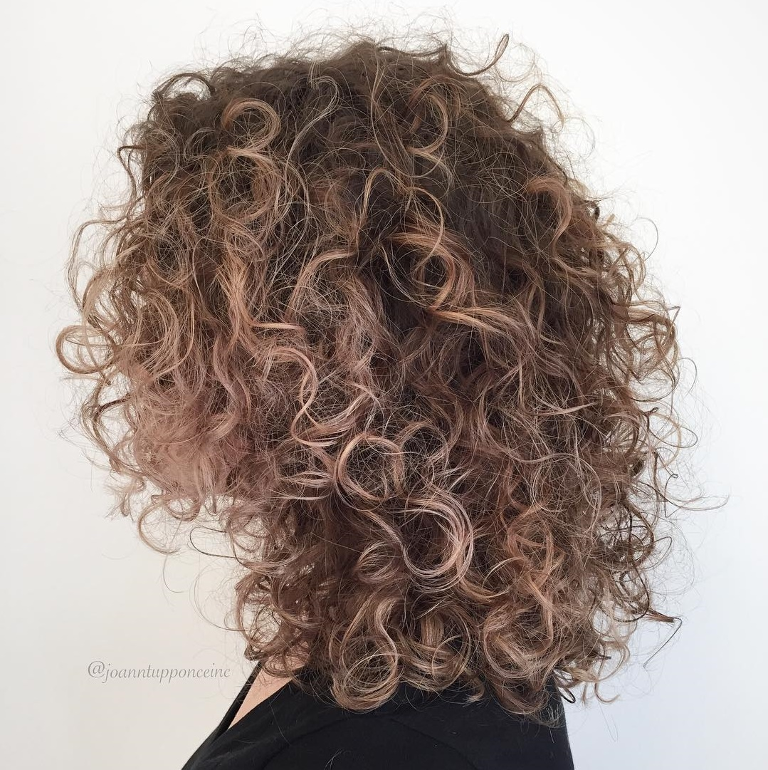 Cute Curly Blonde Balayage Hairstyle