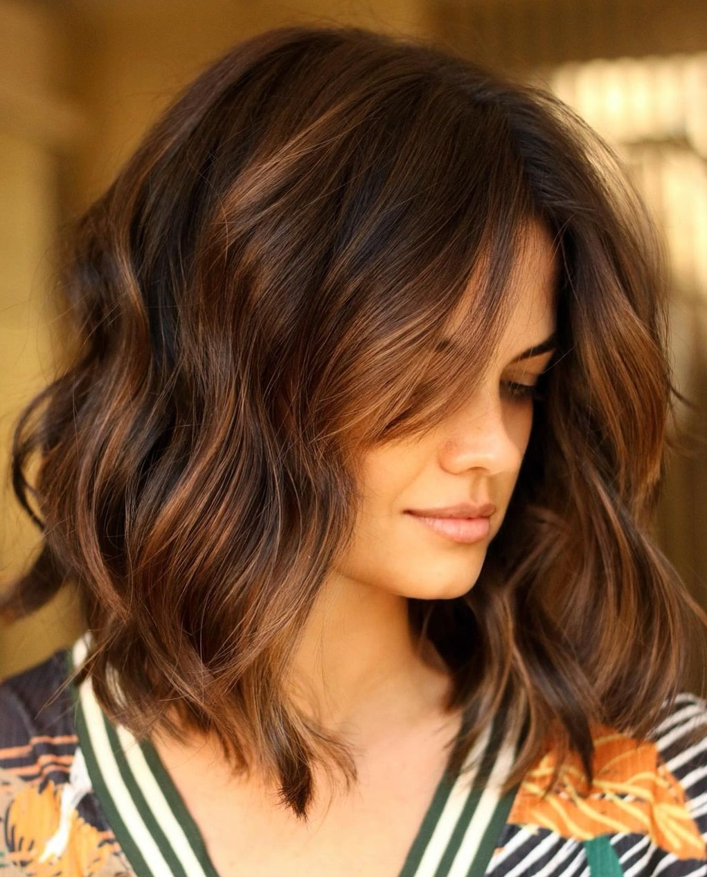 Copper Balayage for Dark Brown Hair