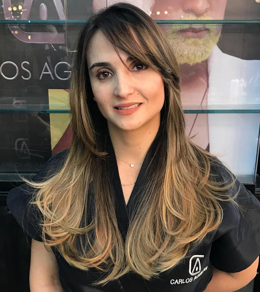 Long Straight Hair with Blonde Balayage