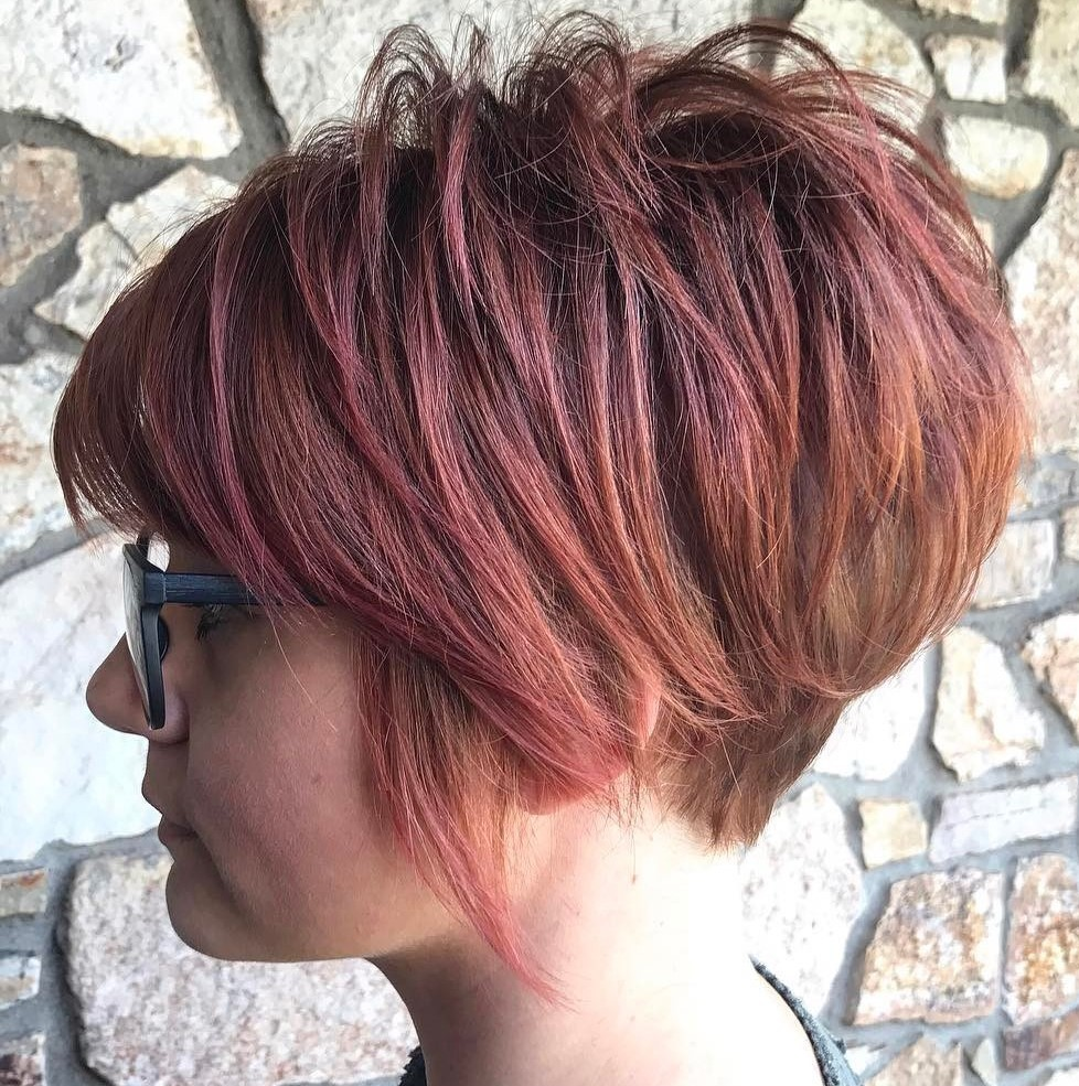 Long Tapered Pixie for Round Faces