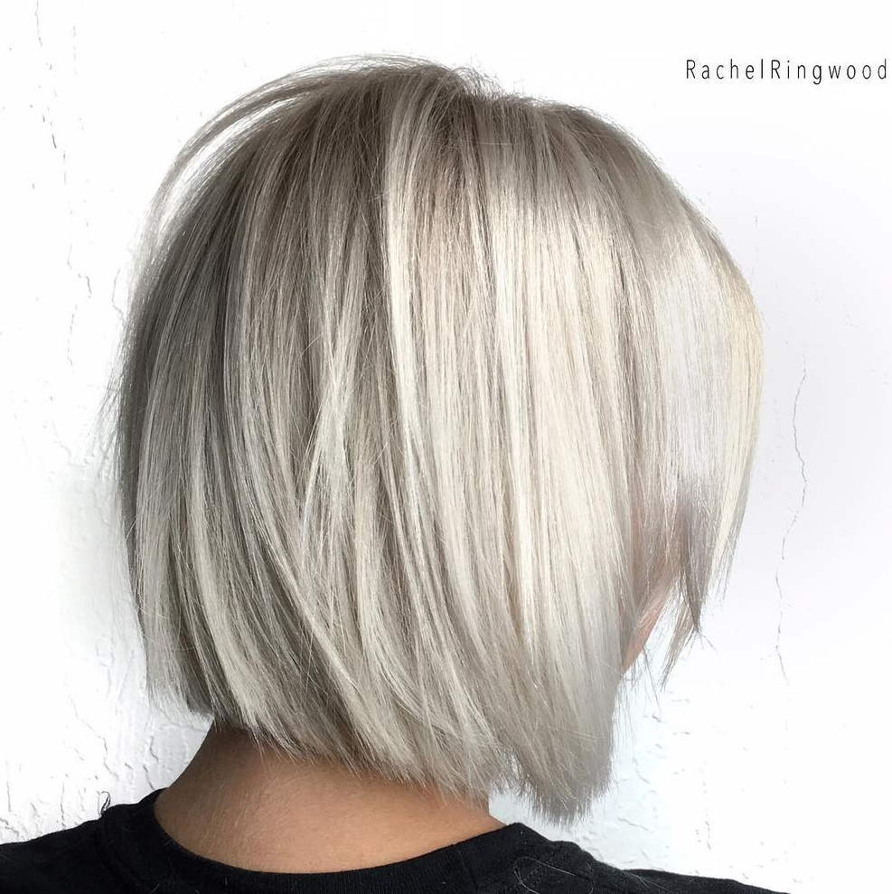 White Blonde Bob for Straight Hair