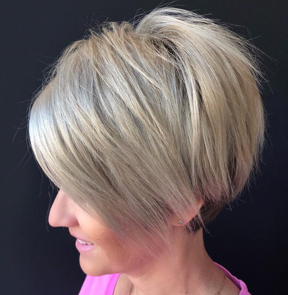 Easy to Style Long Razored Pixie