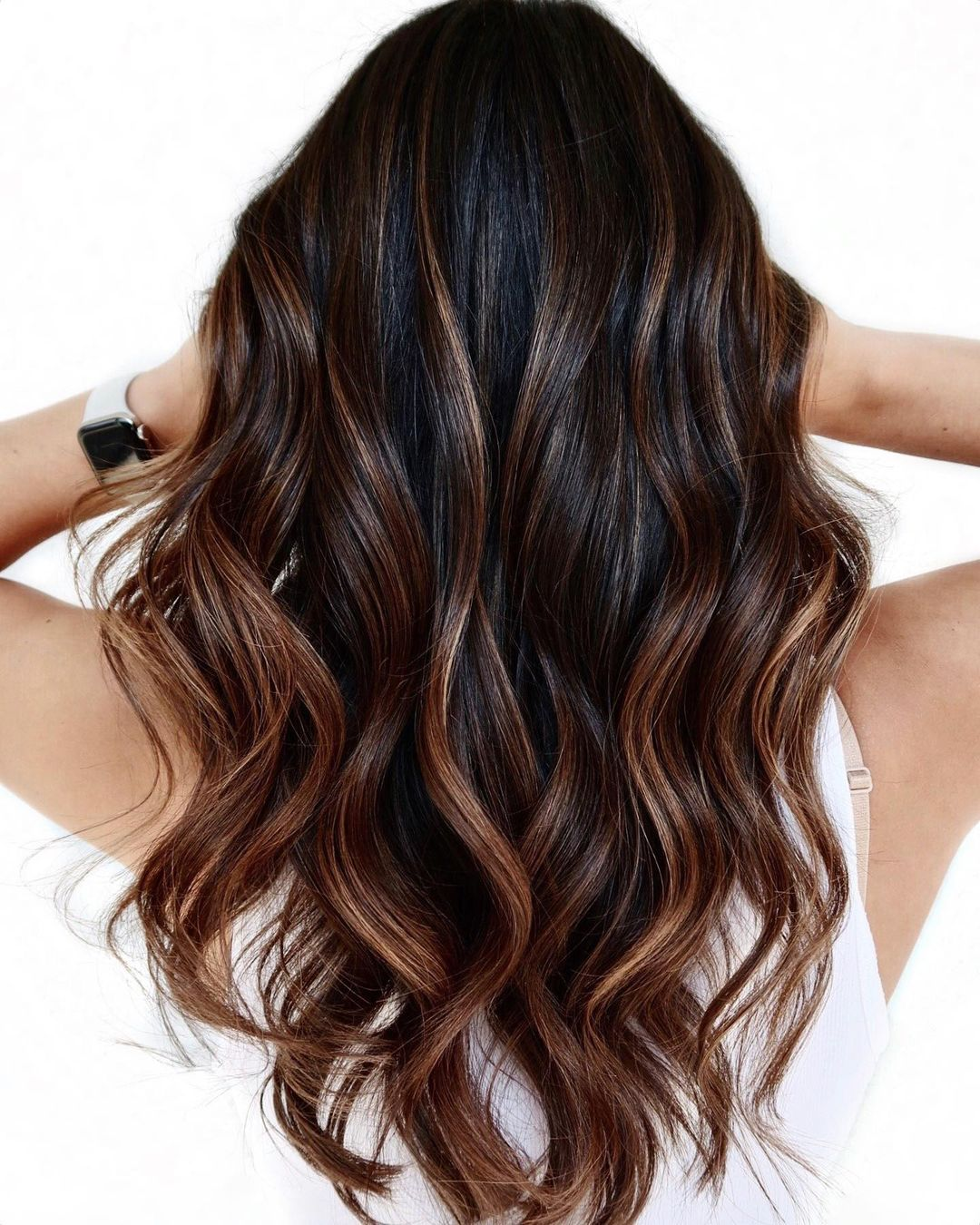 Caramel Brown Highlights for Brunettes