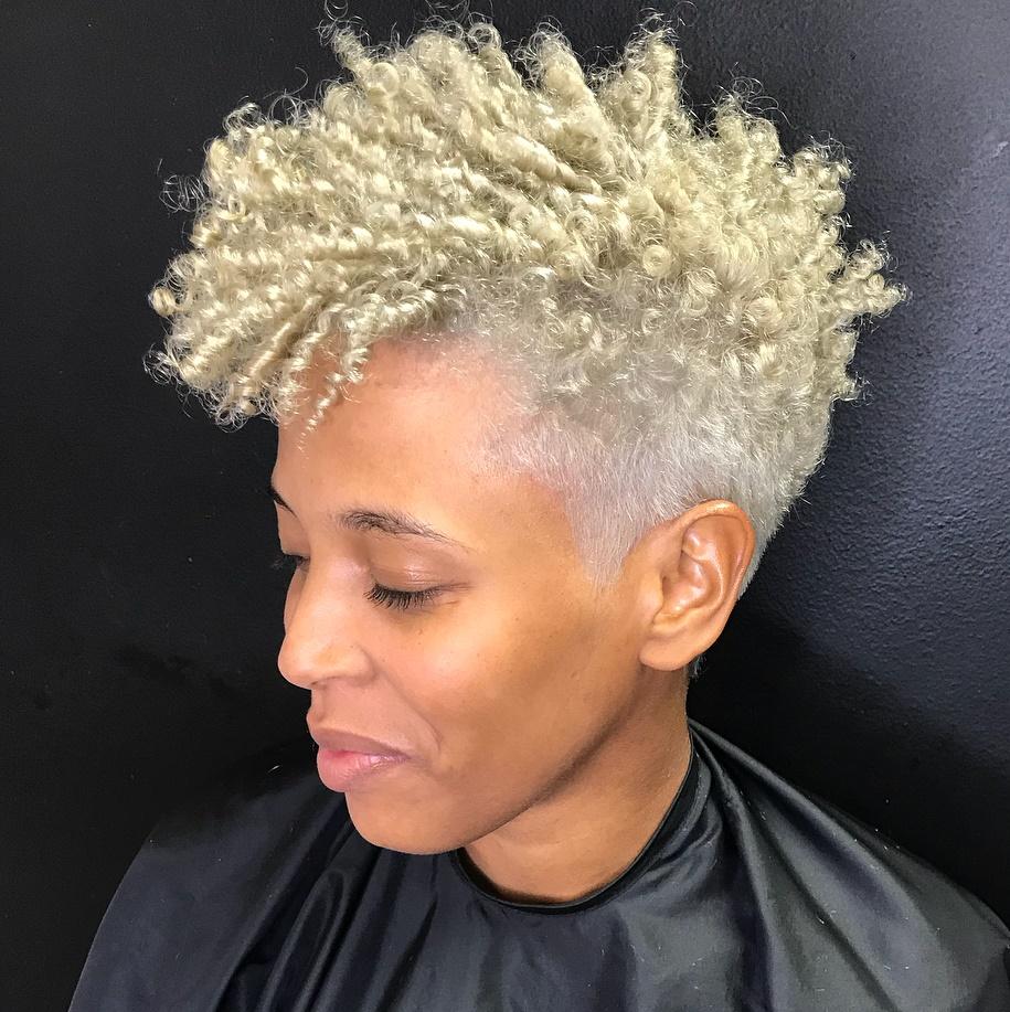 Edgy Light Blonde Taper Cut