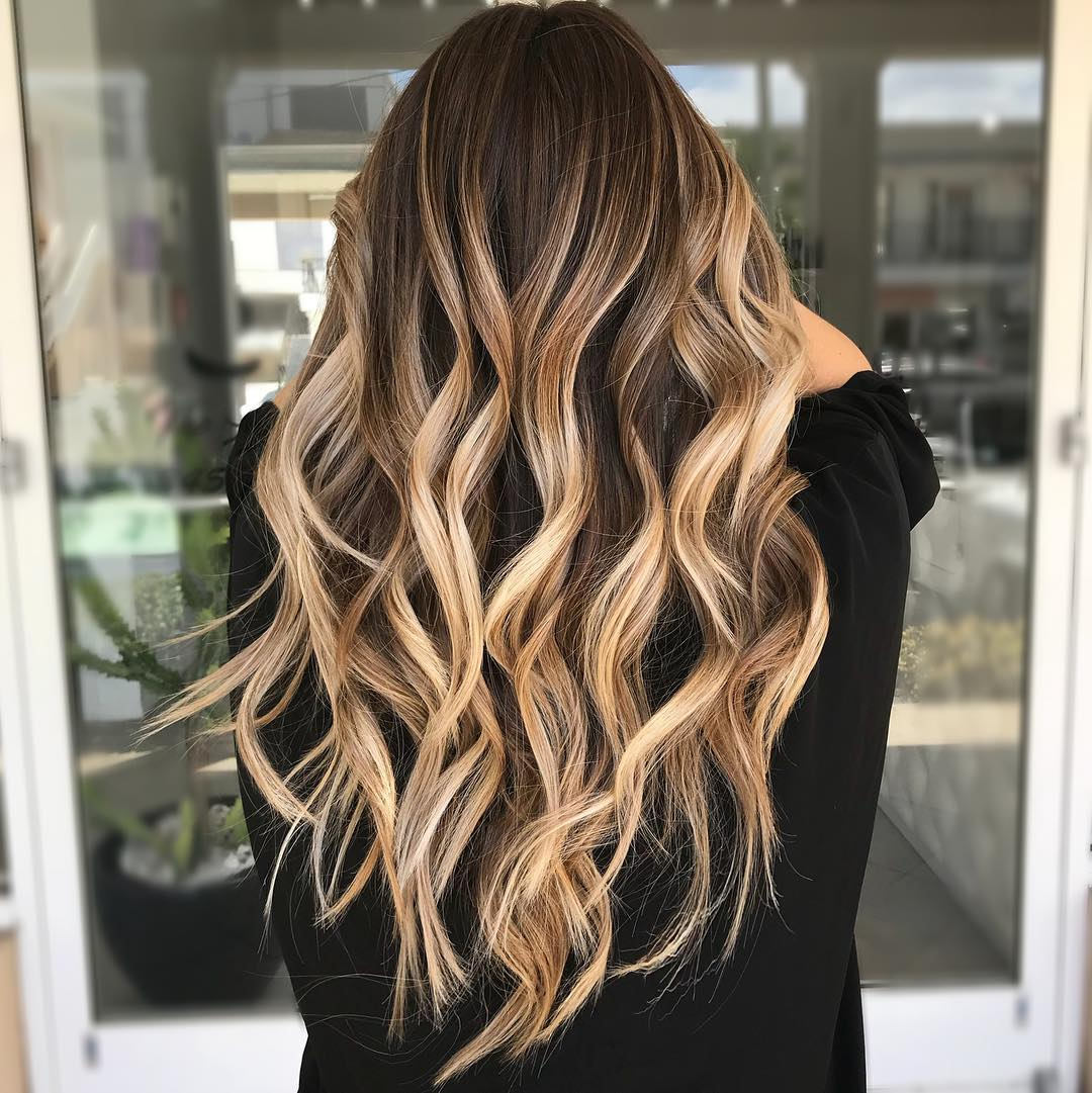 White Blonde Highlights for Dark Brunette Hair