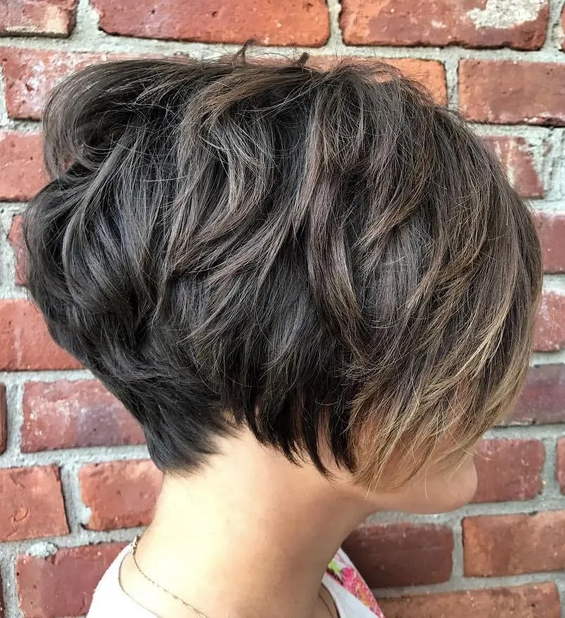Layered Textured Pixie with Subtle Balayage