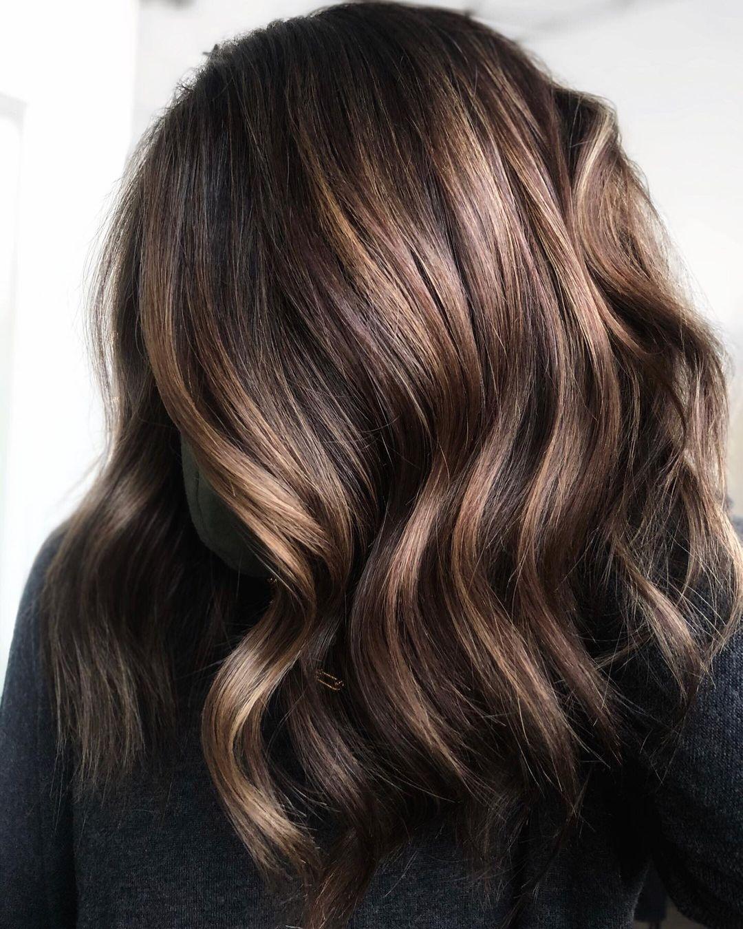 Dark Brown Hair with Bronze Highlights