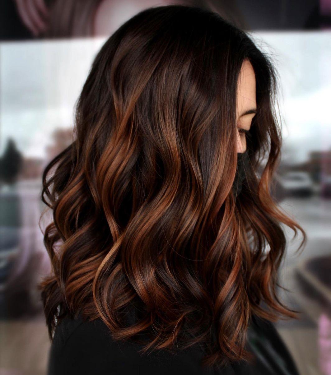 Dark Hair with Auburn Highlights