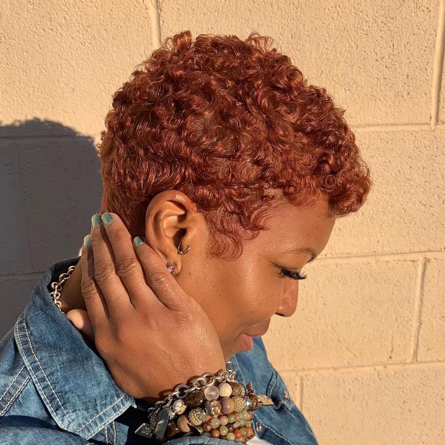 Natural Short Length Copper Hair