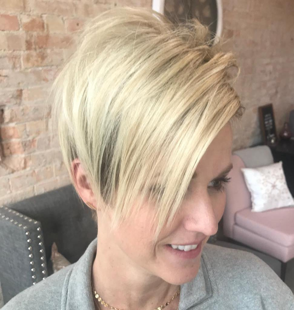 Cool Long Pixie with Straight Bangs