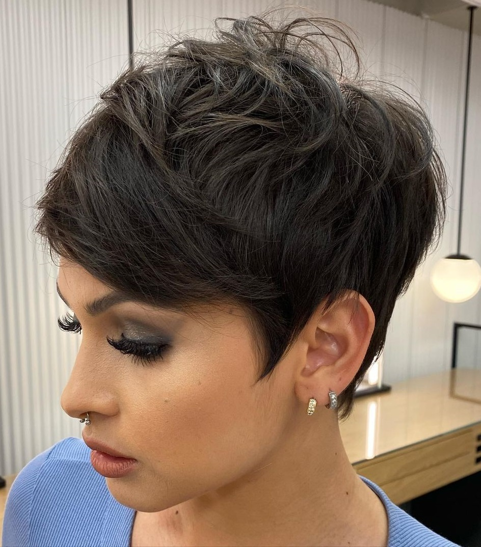 Tapered Shaggy Pixie Cut