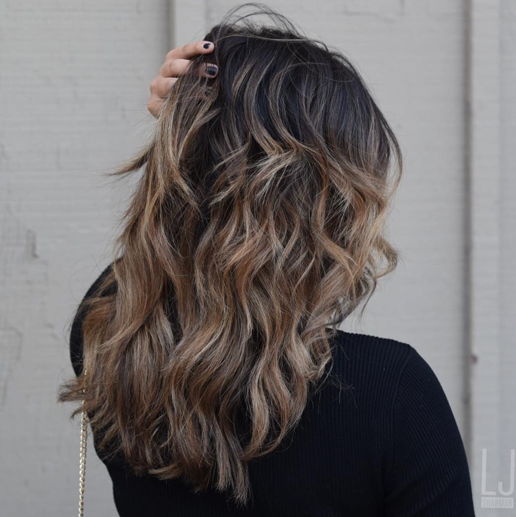 Long Hairstyle with Caramel Layers