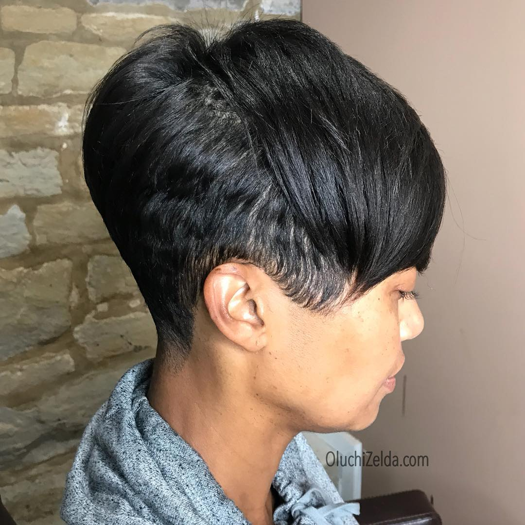 Short Black Haircuts Women 18
