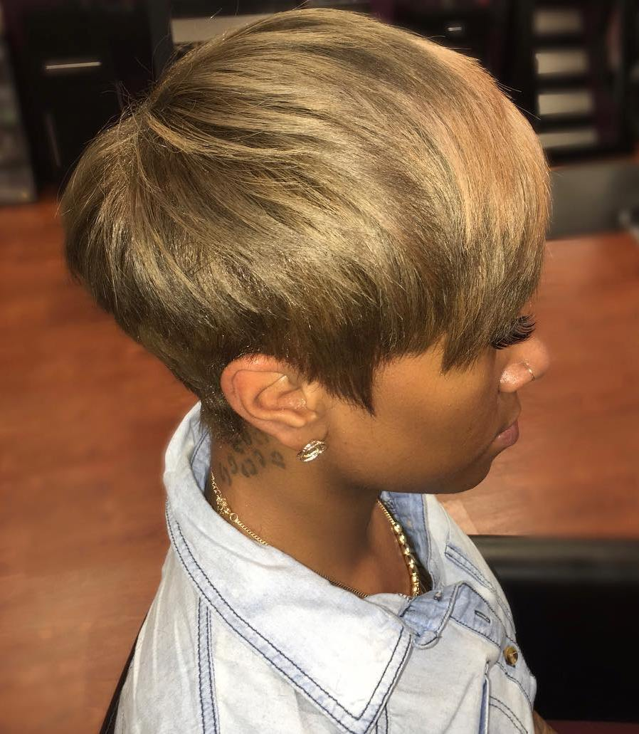 Short Tapered Dark Blonde Haircut