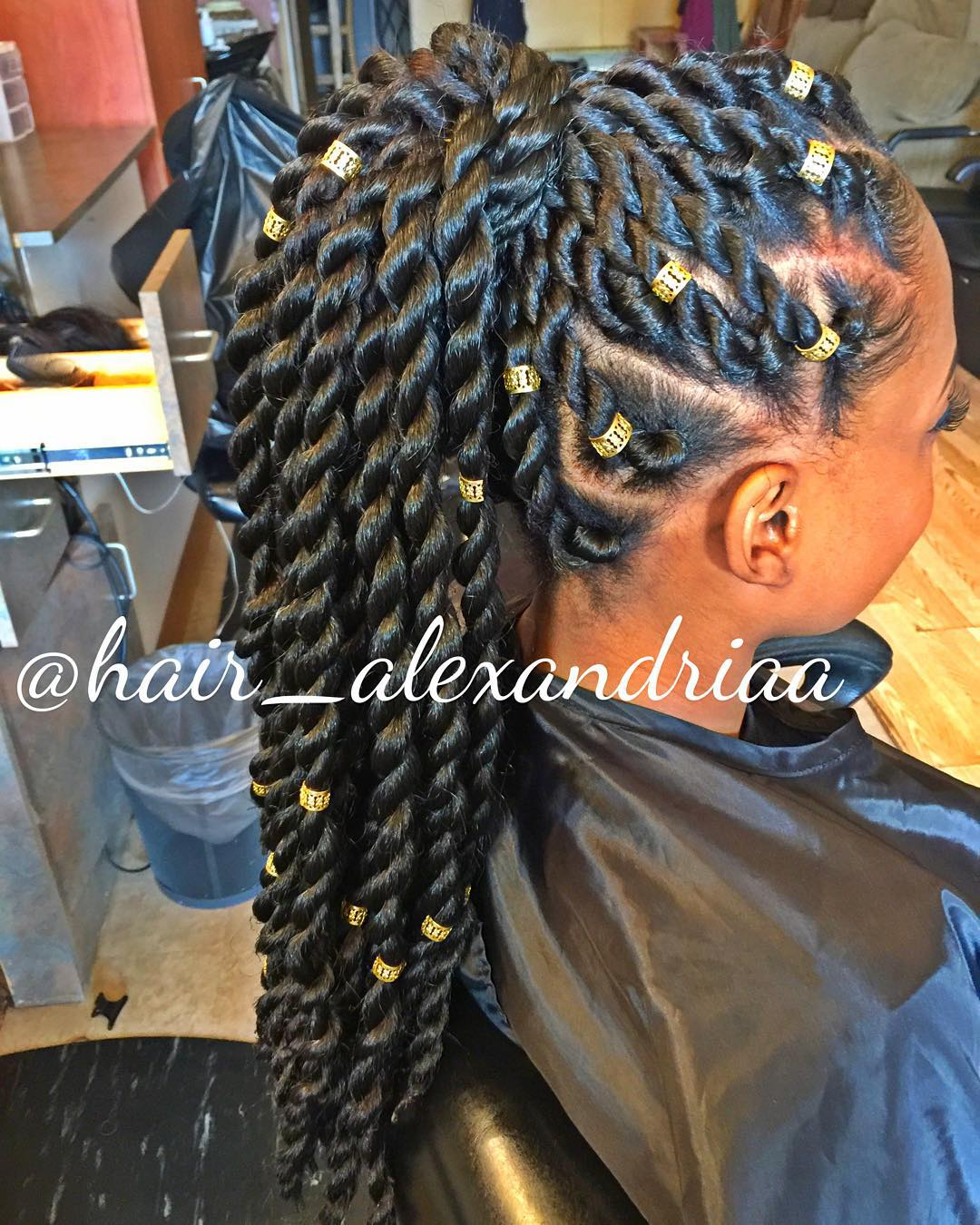 Senegalese Twists with Beads