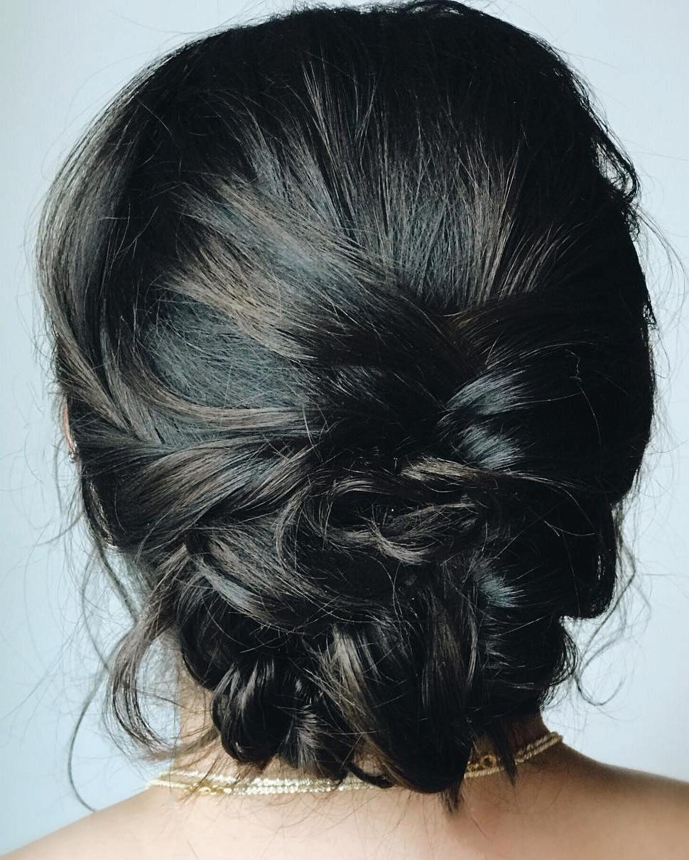Medium Hair Messy Updo