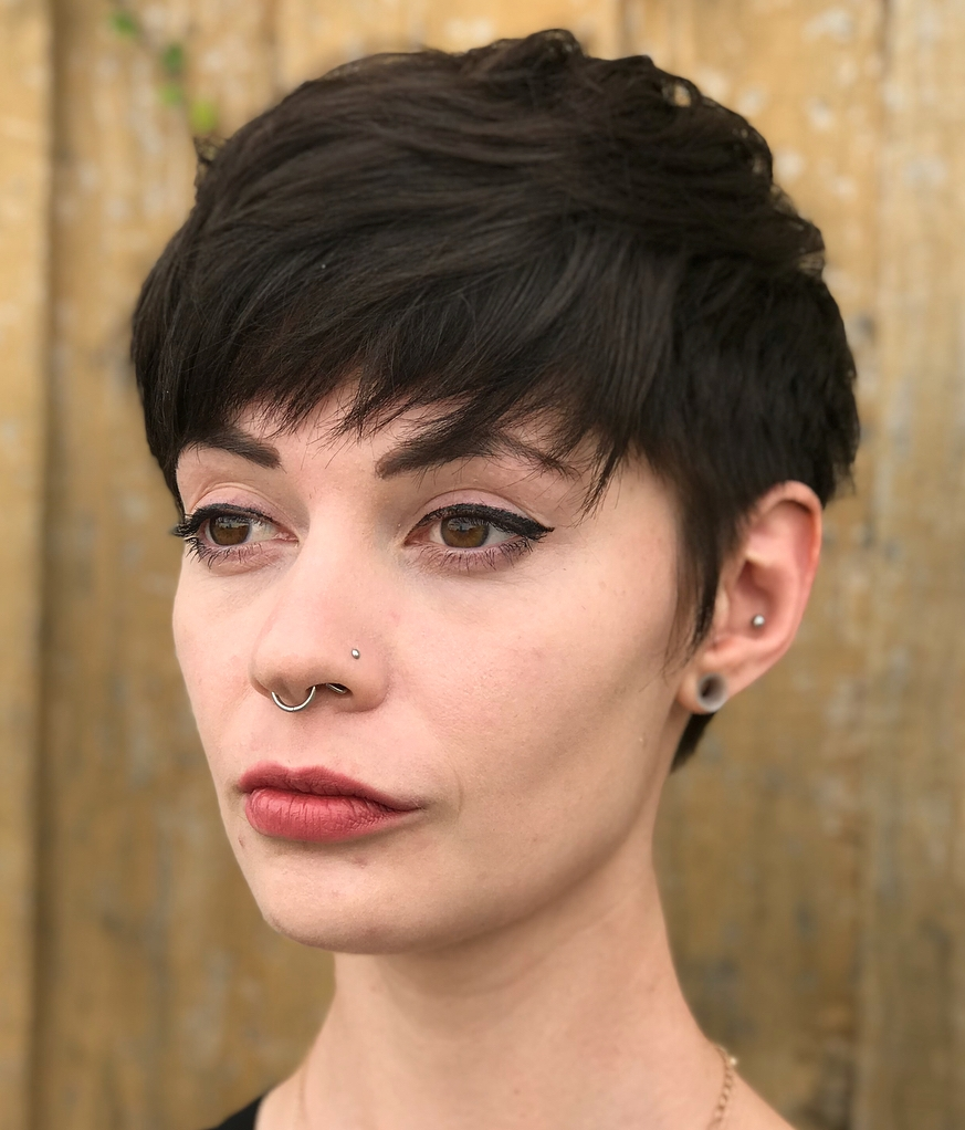 Short Pixie with Choppy Bangs